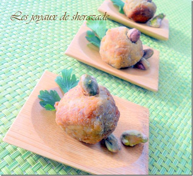boulettes de poulet aux pistaches