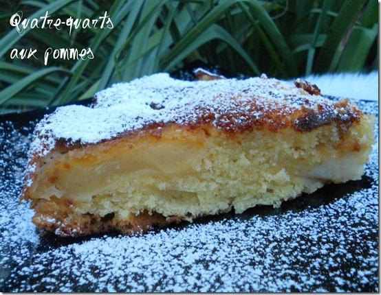 gâteau quatre quarts aux pommes