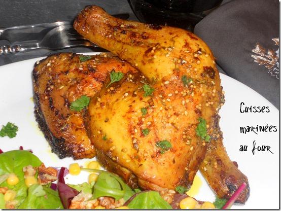 cuisses de poulet marnées