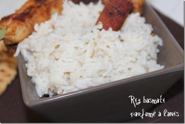 riz basmati parfumé à l'anis