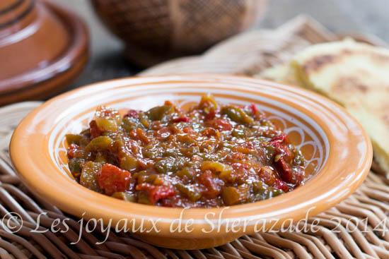 Hmiss algérien, salade de poivrons