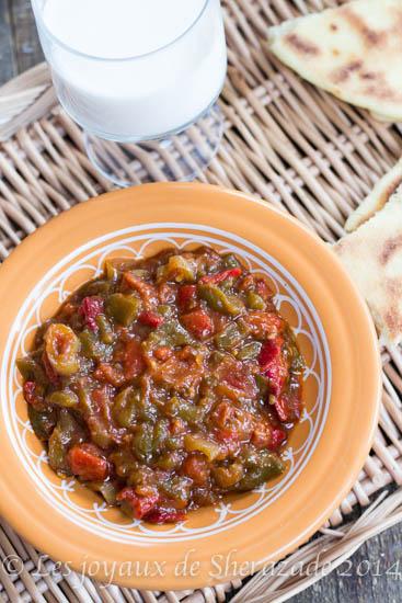 Hmiss alg rien salade de poivrons les joyaux de sherazade for Dicor de cuisine algerienne