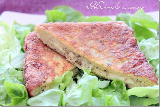 recette espagnole, mozzarella en carozza