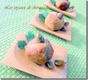 Boulette de poulet aux pistaches
