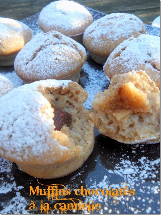 muffins chocolatés à la cannelle