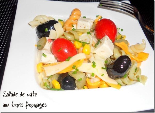 salade de pates aux fromages