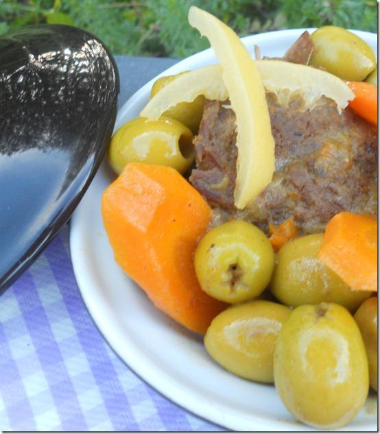 tajine à la viande aux olives et citrons confits