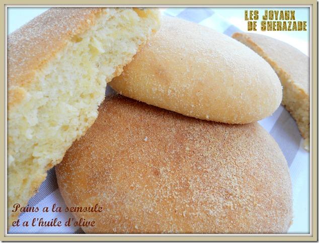 pain à la semoule et à l'huile d'olive