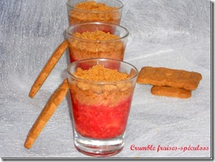 crumble fraise speculoos