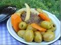 Tajine marocain à la viande, aux olives et citron confits