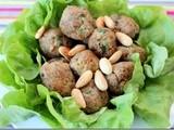 Boulettes de viande hachée aux amandes