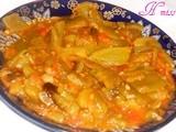 Hmiss; felfla; poivron grillé, tomate en sauce