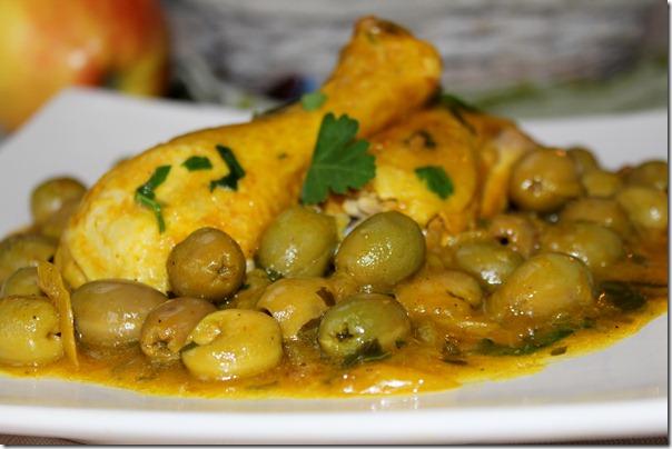 Recette de poulet aux olives
