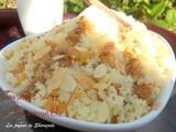 Seffa, couscous sucré à la cannelle et aux raisins secs