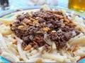 Macaroni au yaourt et à la viande hachée, recette fatafeat