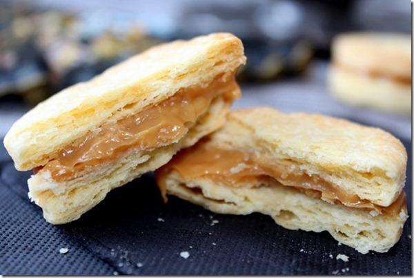 gateau algerien, biscuits au caramel