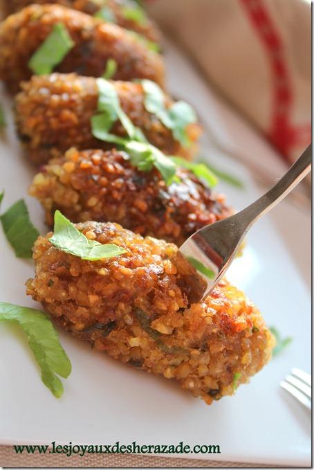 kibbeh végétarienne, entrée libanaise
