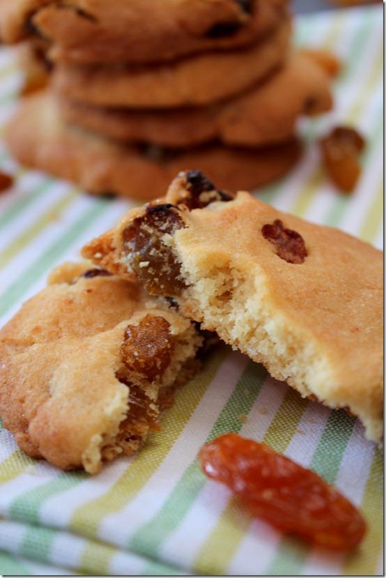 recette cookies aux raisins secs