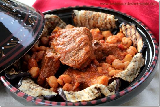 cuisine algérienne - mderbel aubergine