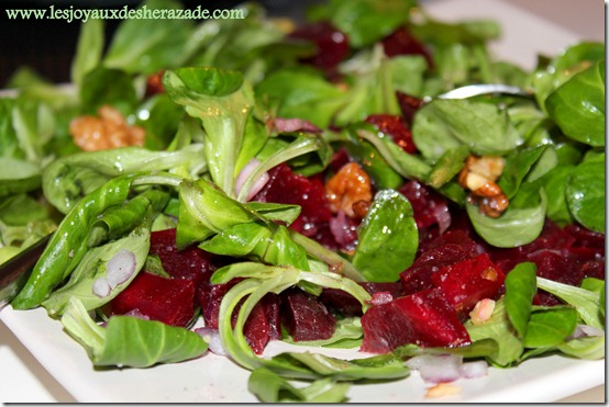 salade de betterave facile à la mache