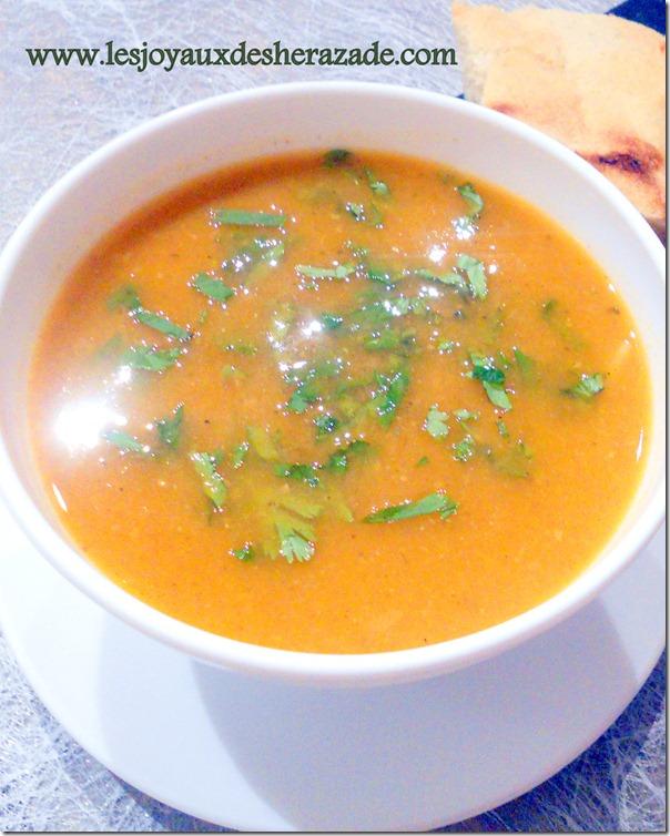 soupe algerienne pour ramadan , harira