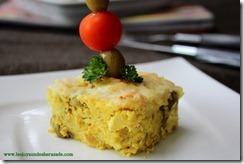 tajine tunisien, 1 pommes de terre et thon