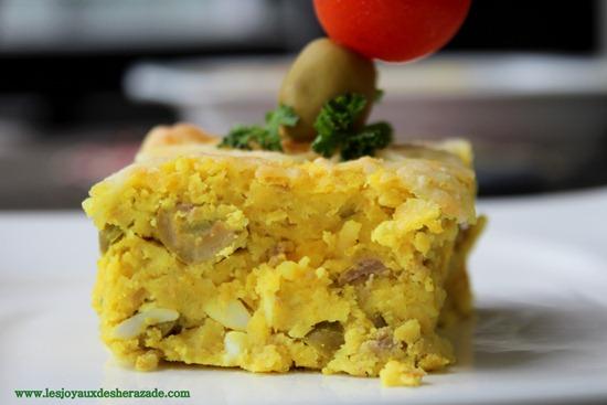 tajine tunisien 2 pommes de terre aux thon