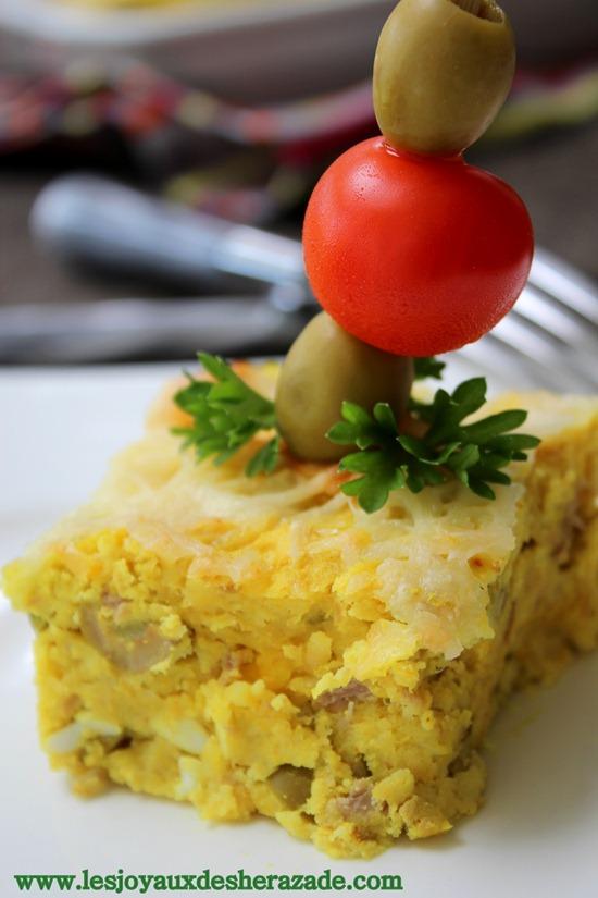 tajine tunisien 3 pommes de terre au thon