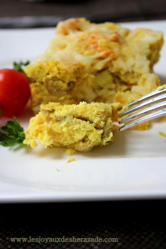 tajine tunisien 4 , gratin de pommes de terre au thon