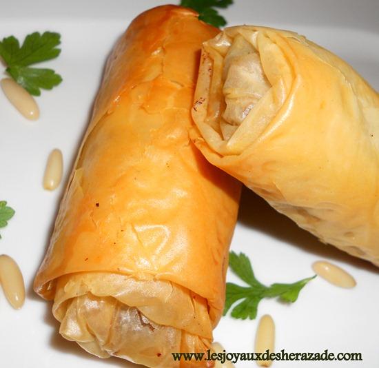 bourek , recette libaneuse, bourek au four