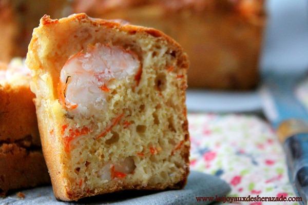 cake salé aux crevettes, cake pour apéritif
