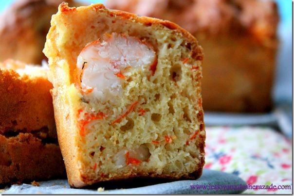 cake salé aux crevettes-surimi