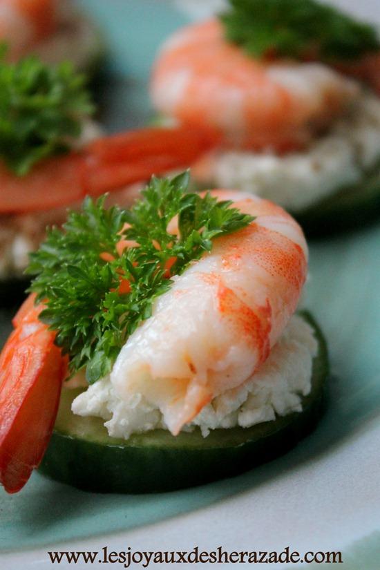 recette de crevettes, amuses bouches faciles , apéro dinatoire