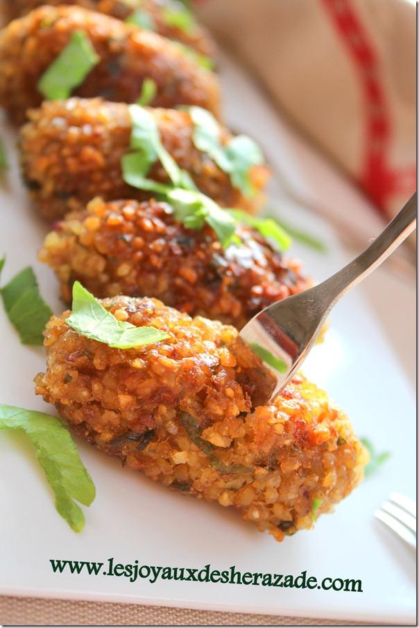 recette de kibbeh libanaise, facile sans viande
