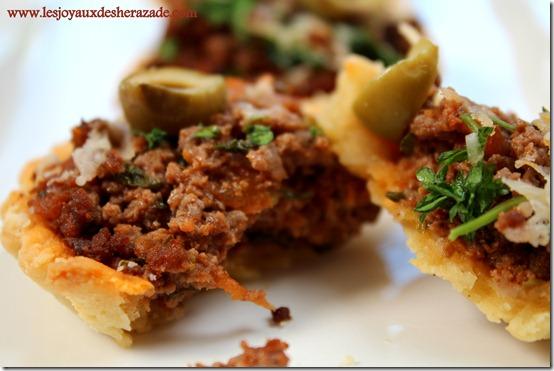 recette de tartelettes à la vainde hachée , recette à la viande hachée facile