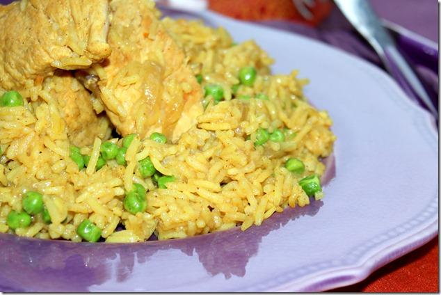 recette indienne , poulet au curry