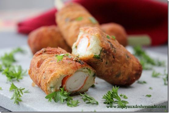 recette pour ramadan, croquettes de pommes de terre , surimi