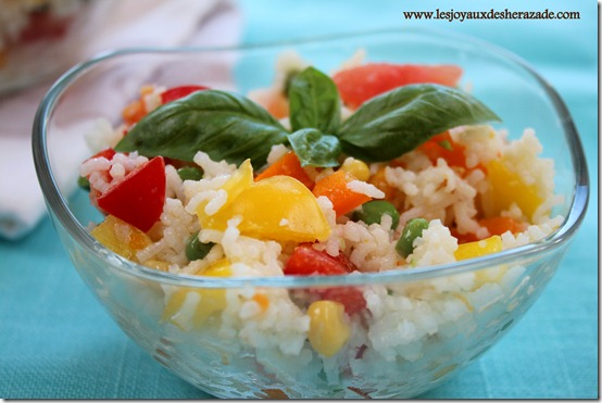salade de riz aux légumes