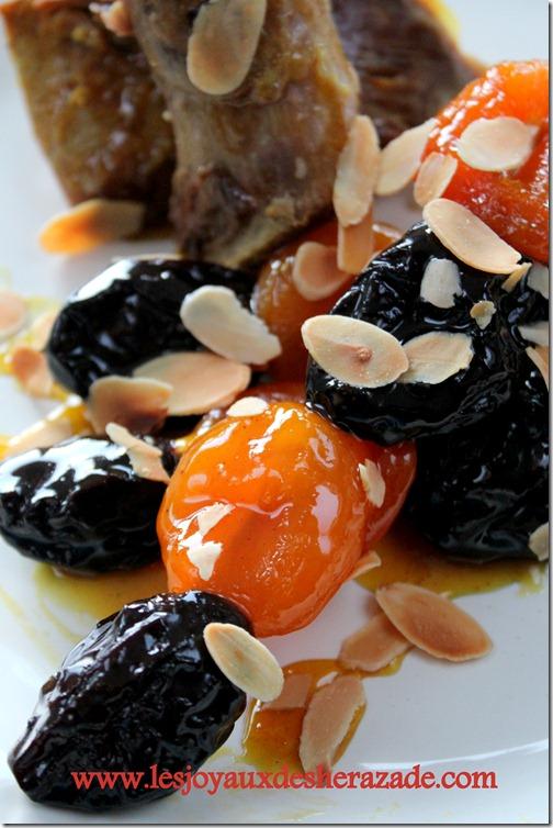 tajine lahlou, lham lahlou, tajine aux pruneaux et aux abricots