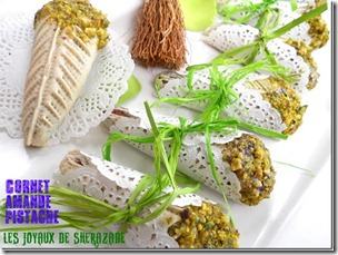 cornet aux amandes et pistaches, gateaux algeriens