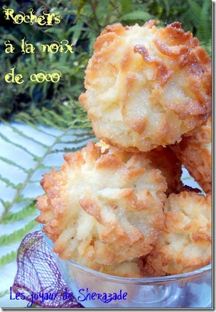 rocher à la noix de coco, gateau algerien