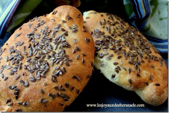 pain à la semoule aux graines de lin