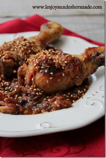 recette de poulet aux tomates et au miel