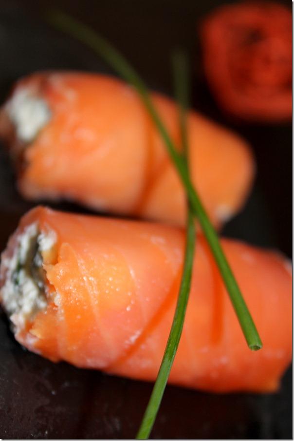 amuse bouche saumon fumé