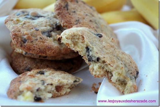 cookies au chocolat et aux banane