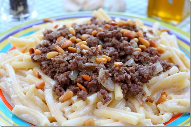 macaroni à la libanaise , recette fatafeat