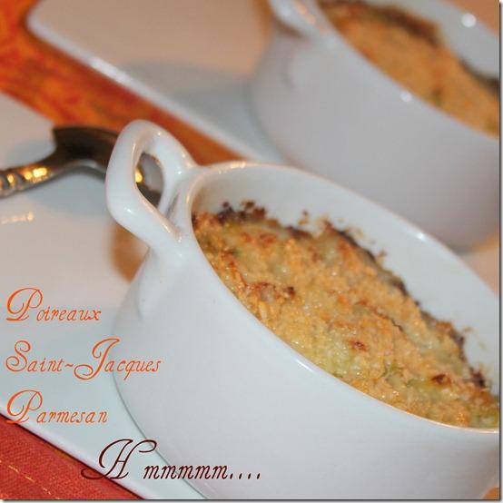 fondue de poireau aux noix de saint-jacques