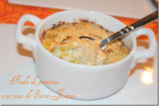 Noix de saint jacques fondue de poireaux les joyaux de for Entree chaude facile