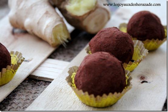 recette de truffes au gingembre