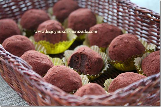 recette de truffes chocolat à la creme de marron